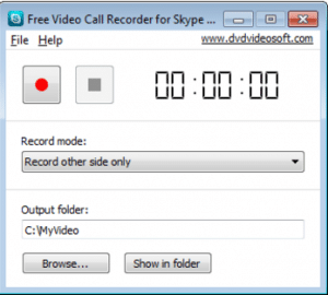 dvdsoft's recorder for skype