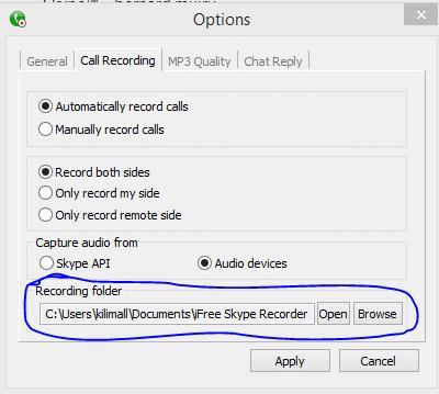 recording folder