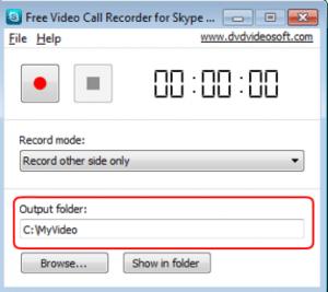 specify output folder