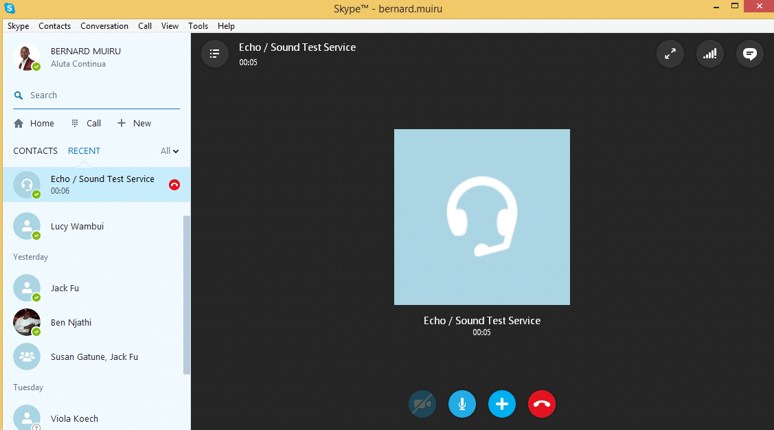 test microphone in Skype