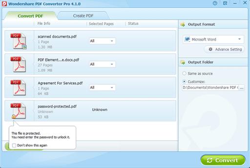 Wondershare PDF Converter
