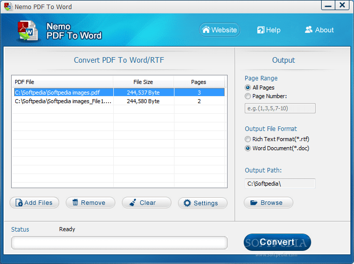 Nemo PDF to word converter
