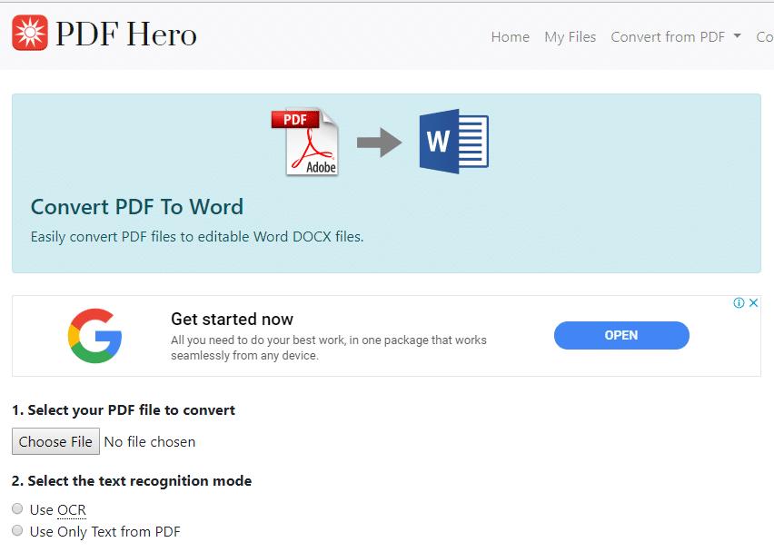 pdf to word convertor free download