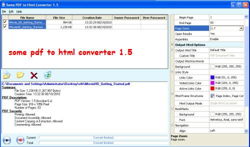 some pdf to html converter