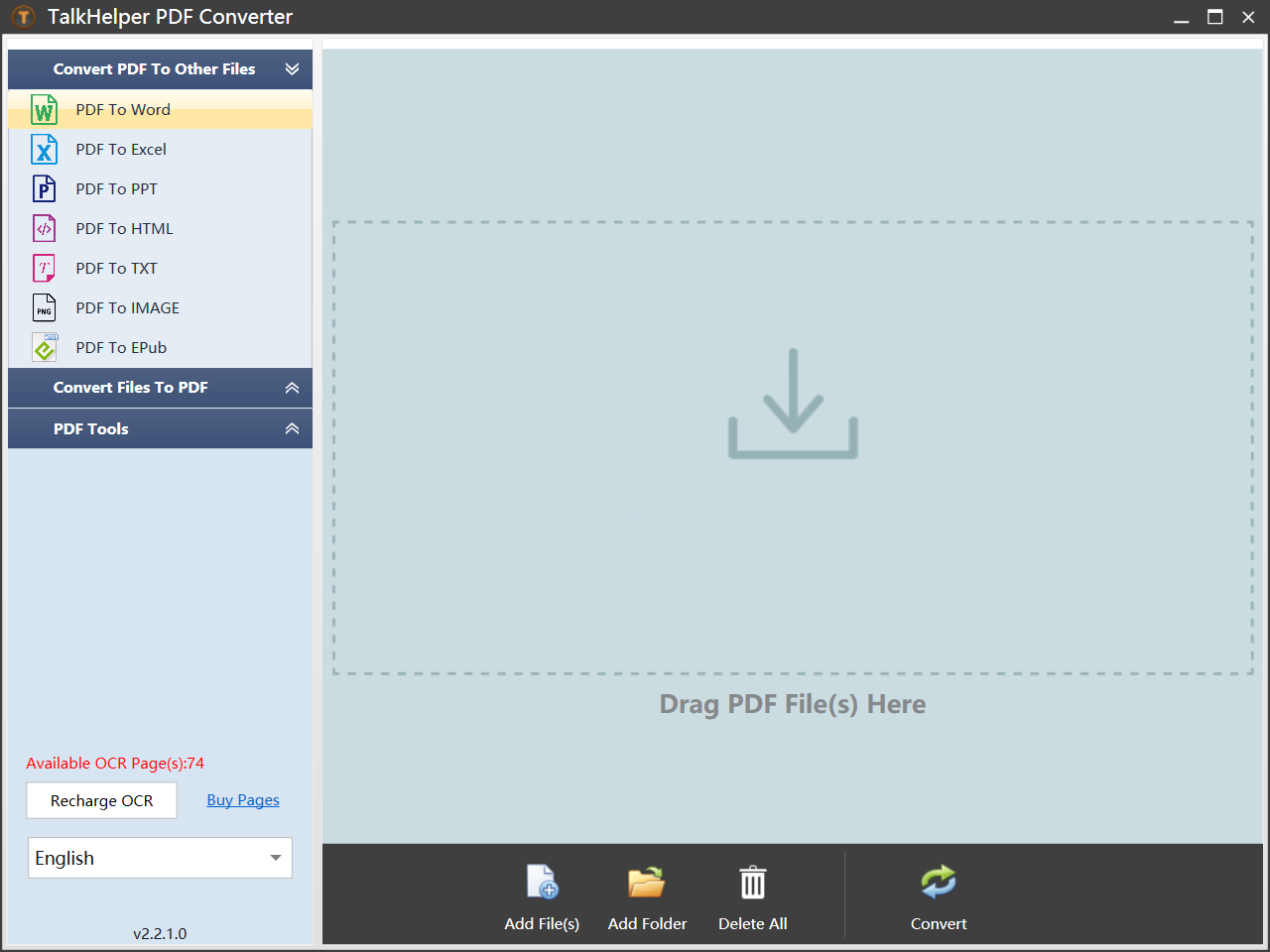 TalkHelper PDF Converter OCR