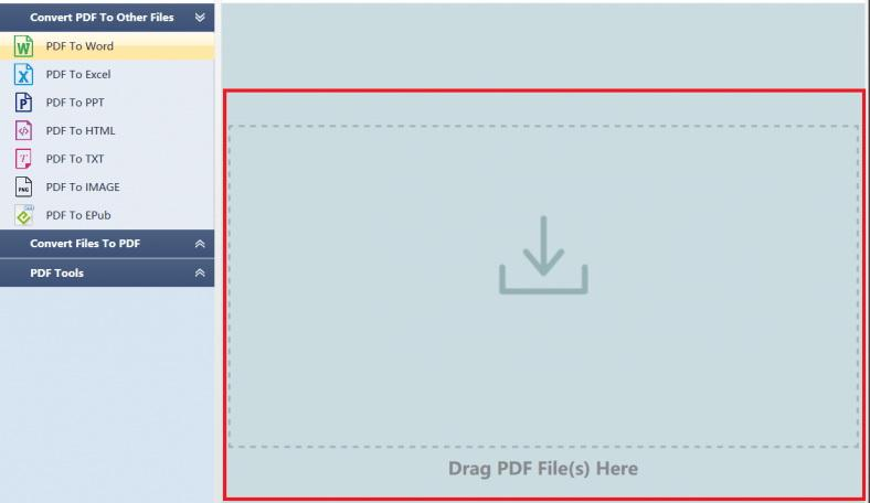 import scanned PDF files