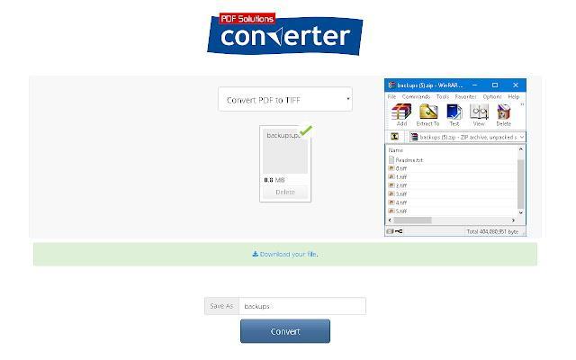 PDF To Tiff Converter (Chrome Extension)