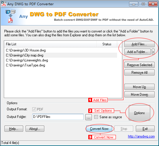 AnyDWG PDF Converter