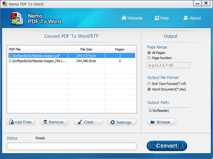 Nemo PDF to word converter