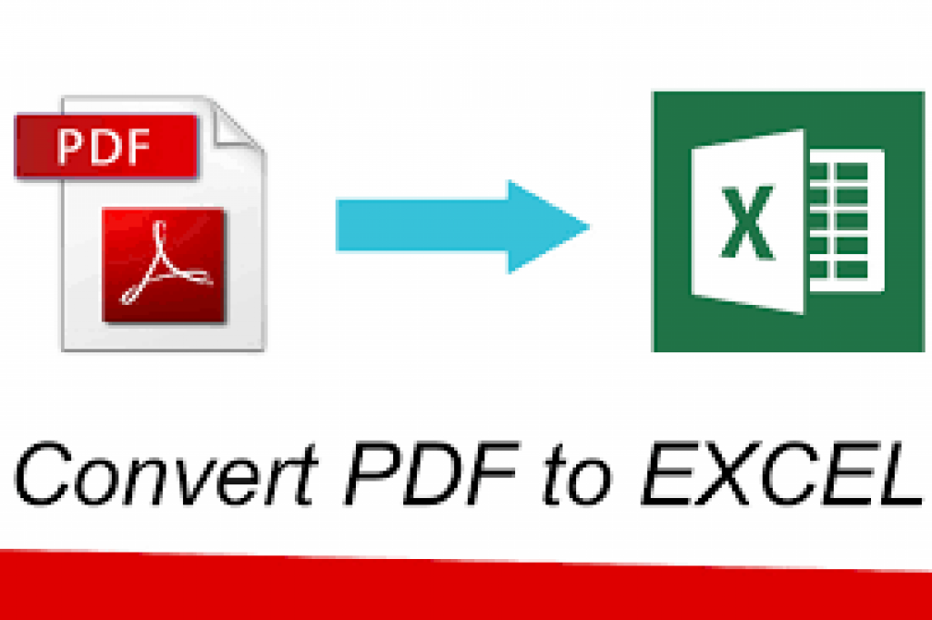 Pdf to ms excel converter software