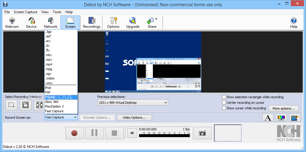debut video recording software professional version free download