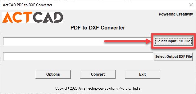 select input PDF file