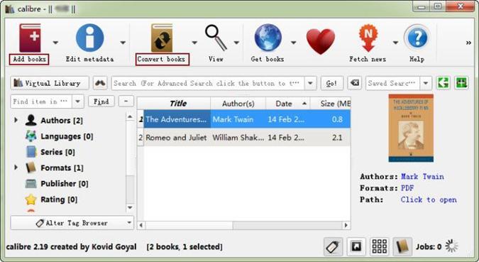 Calibre-Ebook-Management