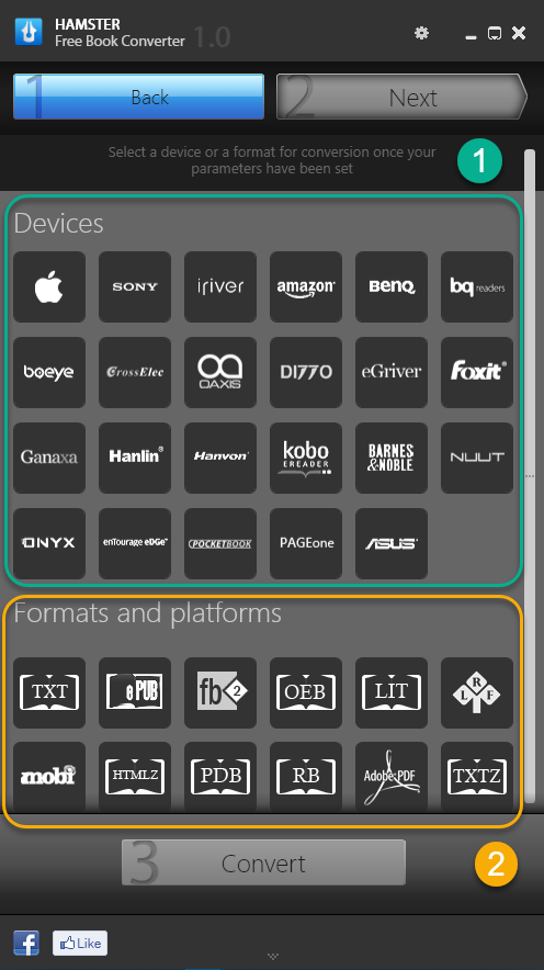 supported formats and platforms