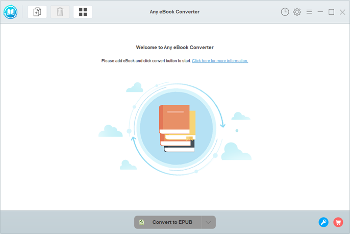 main ui of any ebook converter