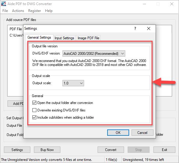 output file version