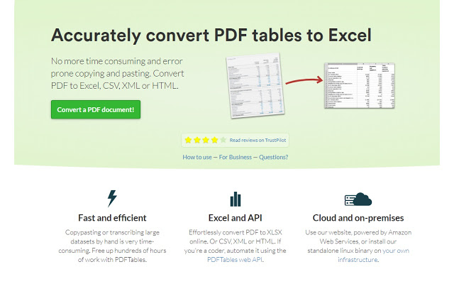 PDFTables-extension