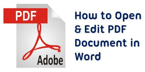 how to open pdf in word