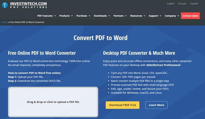 Investintech-PDF-to-Word-Converter