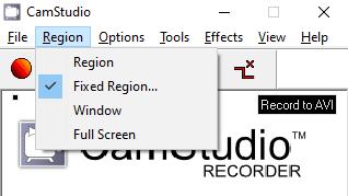 region-recording-camstudio