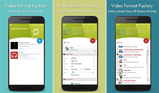 video format factory for android