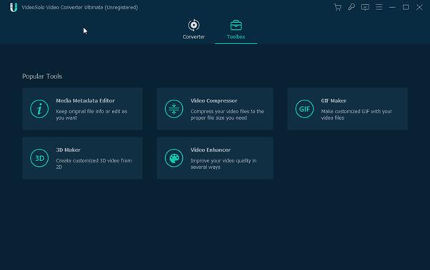 VideoSolo Video Converter Ultimate-toolkit