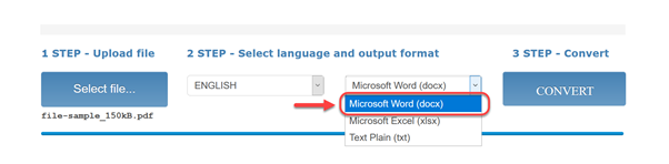 select-output-word-onlineocr