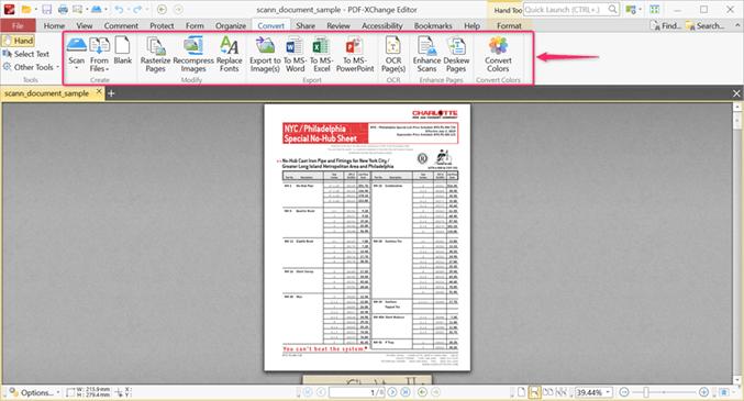 PDF-XChange Editor-convert-documents
